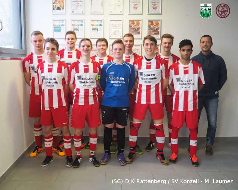 B-Junioren der SG DJK Rattenberg / SV Konzell beim 2. Aschinger-Futsal-Cup 2017