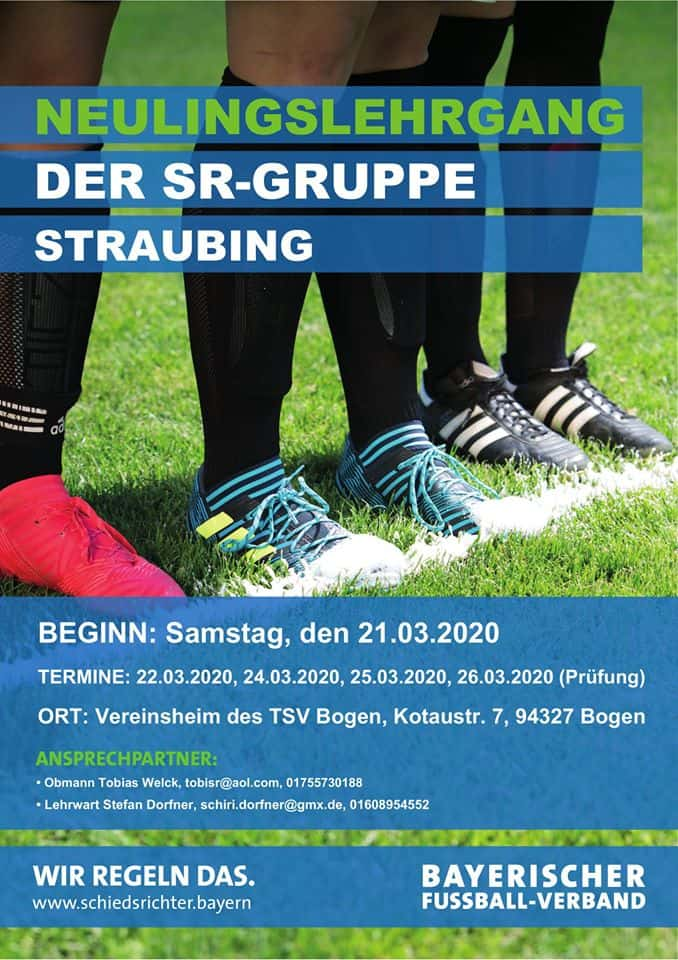 Flyer Neulingskurs Schiedsrichtergruppe Straubing